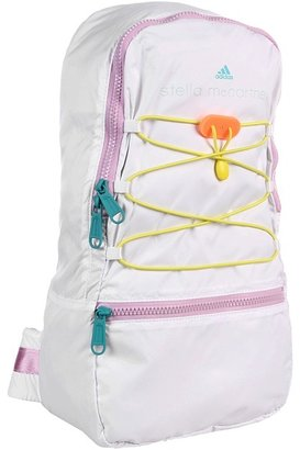 adidas by Stella McCartney Pack Away Backpack (White/Oceanic/Vapour Orchid S11) - Bags and Luggage