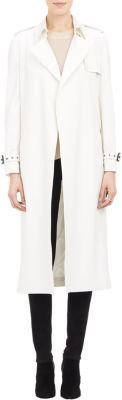 Barneys New York Women's Trench Coat-WHITE $1,395 thestylecure.com