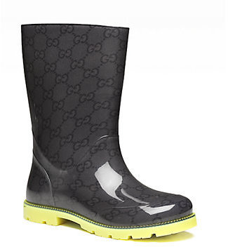 Gucci Girl's GG Rubber Rain Boots