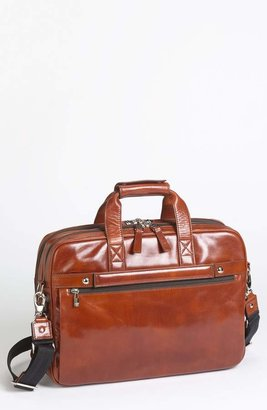 Bosca Double Compartment Leather Briefcase