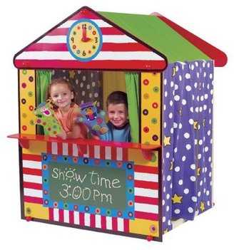 "Alex My Playhouse Theater - 57.5 tall X 46"" x 46"" Woodframe and Fabric Playhouse"