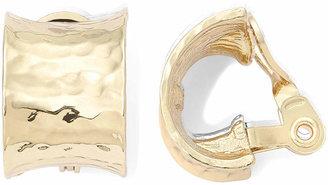 MONET JEWELRY Monet Gold-Tone J-Hoop Clip-On Earrings