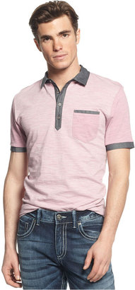 INC International Concepts Shirt, Stripe Colorblock Polo Shirt