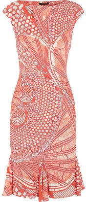 Roberto Cavalli Printed stretch-jersey dress