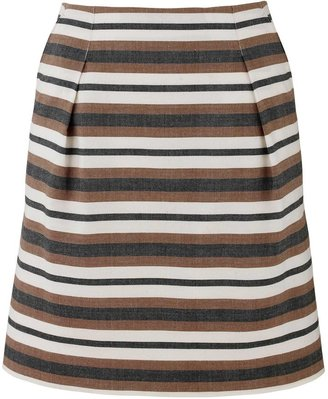 People Tree Tara stripe tuck skirt