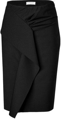 Vionnet Draped Front Skirt in Black