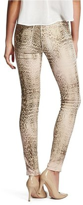 GUESS by Marciano The Skinny No. 61 Jean in Fade Away Leopard Print