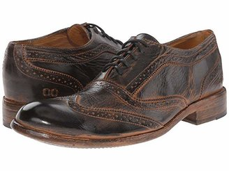 Bed Stu Corsico (Black Rustic/Rust BFS Leather) Men's Lace Up Wing Tip Shoes