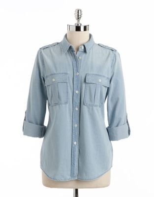 MICHAEL Michael Kors Roll-Tab Denim Shirt