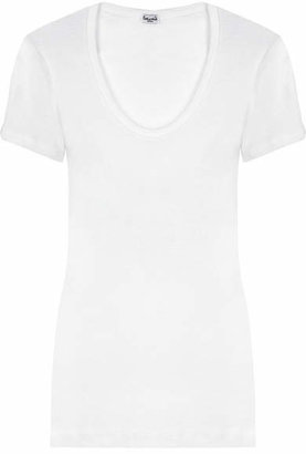 Splendid - Cotton And Modal-blend Jersey T-shirt - White $65 thestylecure.com