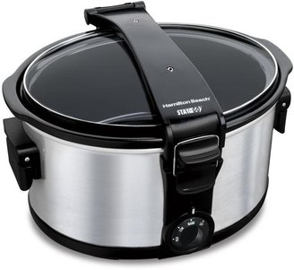 Hamilton Beach Stay or Go 7 qt. Slow Cooker with Clip-Tight Lid