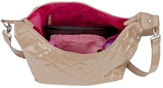 JP Lizzy faux-patent hobo diaper bag