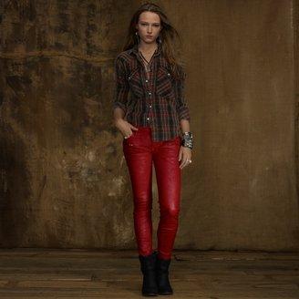 Denim & Supply Ralph Lauren Black Lawton Waxed Skinny Jean