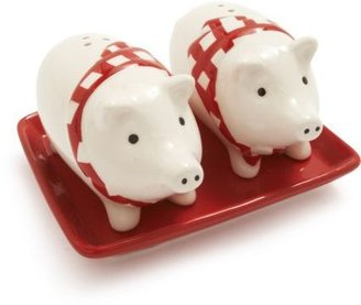 Sur La Table Pig Salt and Pepper Set with Tray