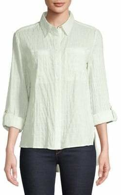 Jones New York Textured Stretch Button-Down Shirt