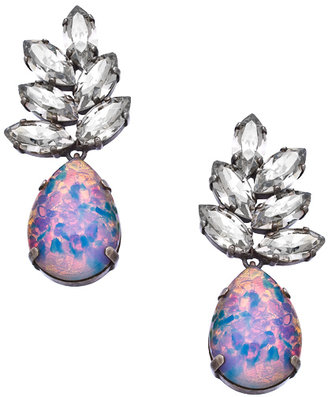 Janis Savitt Janis by Opal Crystal Feather Drop Earrings