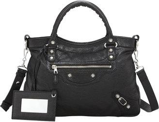 Balenciaga Giant 12 Nickel Town Bag, Black