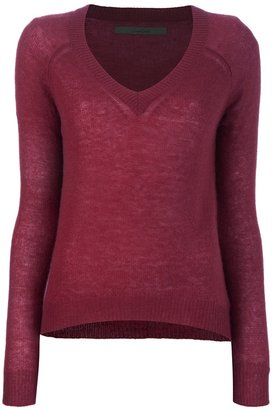 Enza Costa v-neck sweater