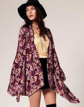Winter Kate Jasmine Kimono Jacket in Velvet Burnout