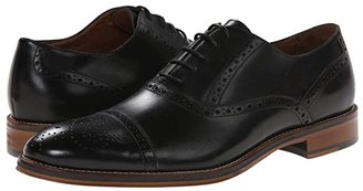Johnston & Murphy Conard Dress Casual Cap Toe Oxford (Black Italian Calfskin) Men's Shoes