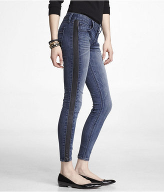 Express Stella (Minus The) Leather Trim Ankle Jean Legging
