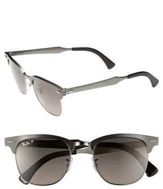 Ray-Ban 'Clubmaster - Modern Temple' Polarized Sunglasses