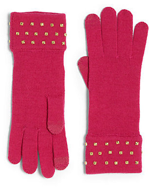 Kate Spade In A Flurry Studded Knit Tech Gloves