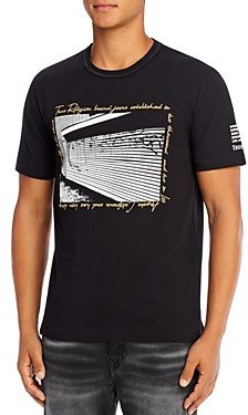 True Religion Horseshoe Lurex Graphic Logo Tee