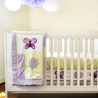 Pam Grace Creations 10-pc. Lavender Butterfly Crib Bedding Set