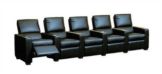 Bass Penthouse Home Theater Row Seating (Row of 5 Fabric: Nusuede - Antilope, Motion Type: Not Motorized