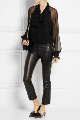 Chloé Pussy-bow silk-georgette blouse