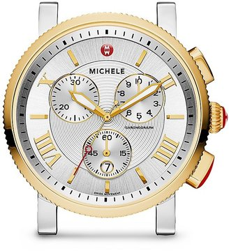 MICHELE Two Tone Sport Sail Watch Head, 42mm $795 thestylecure.com