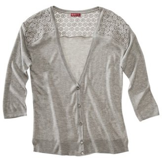Merona Women's Cardigan Sweater w/Crochet Insets - Assorted Colors