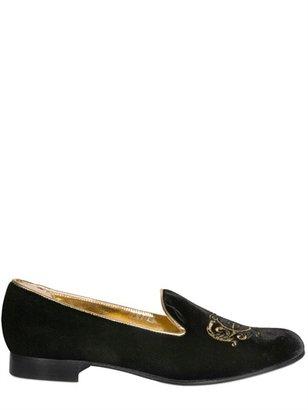 Beatrix Ong Velvet Loafers