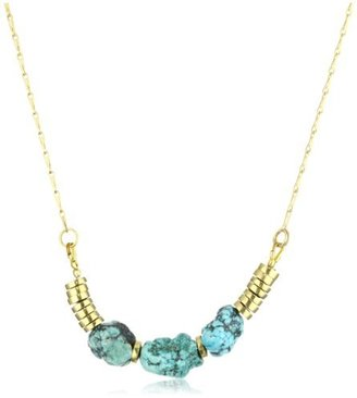 Jenny Bird Turquoise Earth Nugget Necklace