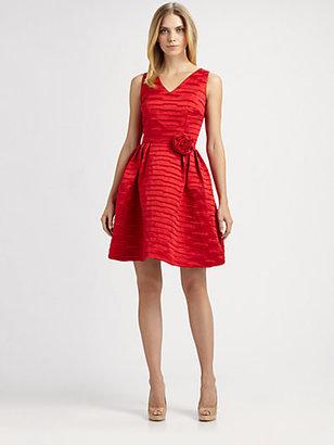 Lotusgrace Satin Rosette Dress