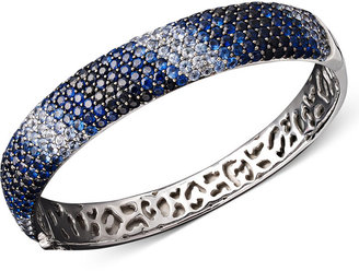 Saph Splash by EFFY Shades of Sapphire Bangle (12-7/8 ct. t.w.) in Sterling Silver