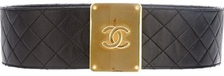 Chanel quilted leather belt