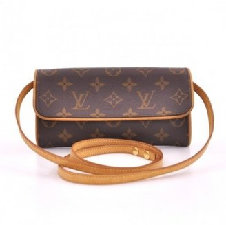 Louis Vuitton very good (VG Twin Pochette PM In Monogram Canvas Shoulder Bag