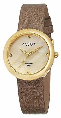 Akribos XXIV Women's AK687YG Impeccable -Tone Watch with Diamond Markers