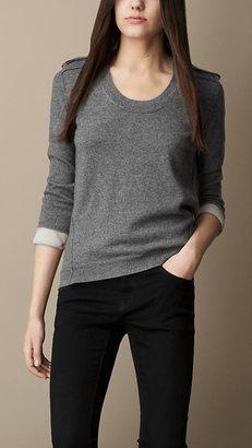 Burberry Epaulette Detail Cashmere Sweater