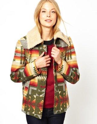 Cooper & Strollbrand Blanket Jacket with Teddy Fur Collar