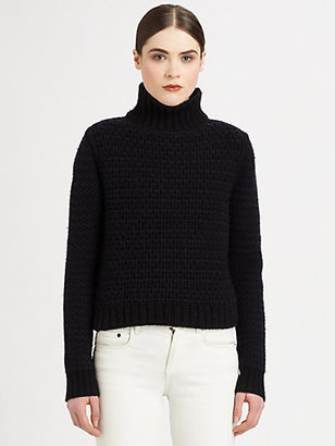 Proenza Schouler Cashmere Chunky-Knit Turtleneck Sweater