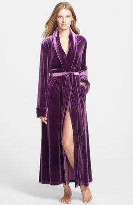 Oscar de la Renta Sleepwear 'Zahara Nights' Velvet Robe