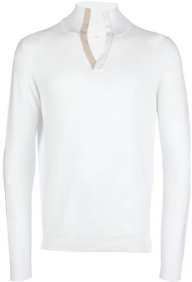 Malo stand up collar top