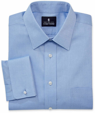 Stafford Executive Non-Iron Cotton Pinpoint French Cuff Oxford Dress Shirt