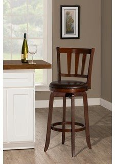Hillsdale Presque Isle Wood and Vinyl Stool