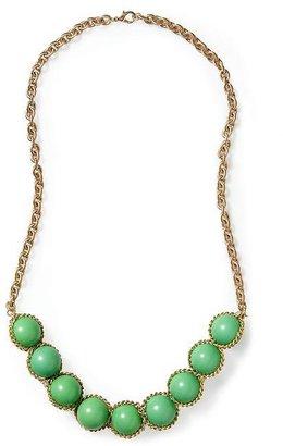 Pim + Larkin Green Cabochon Necklace