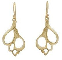 Annette Ferdinandsen Small Sea Shell Slice Earrings - 10 Karat Yellow Gold