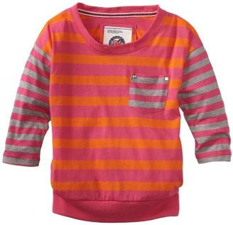 Southpole Kids Girls 7-16 Pullover Striped Fashion 3/4 Sleeve Top